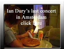 Ian Dury concert in Amsterdam